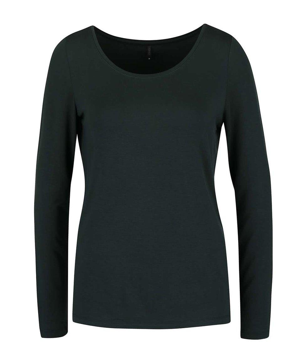 Tmavě zelené tričko s dlouhým rukávem ONLY Jewel