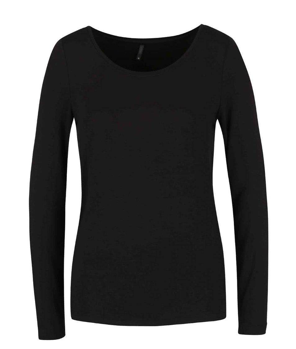 Černé tričko s dlouhým rukávem ONLY Jewel