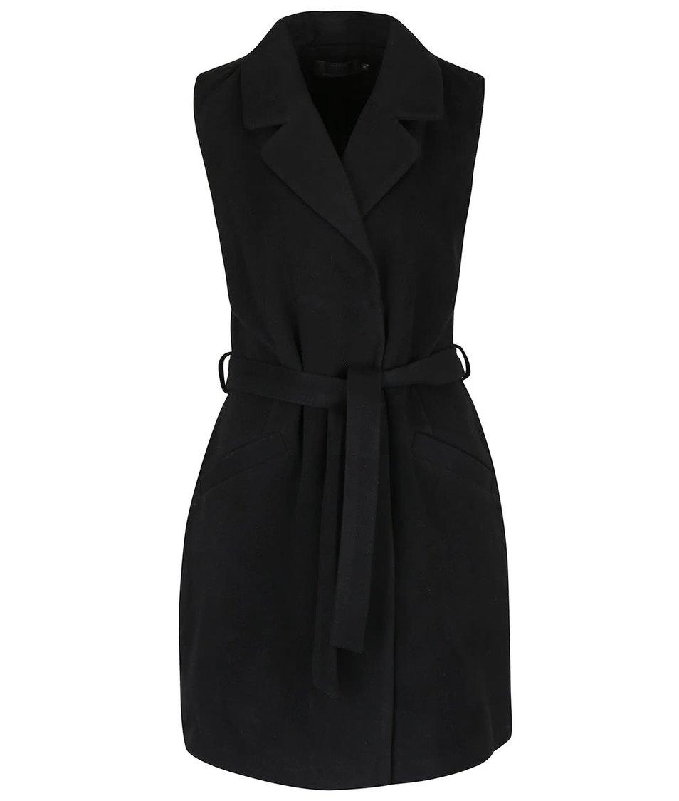 Černá kabátová vesta s kapsami ONLY Dory