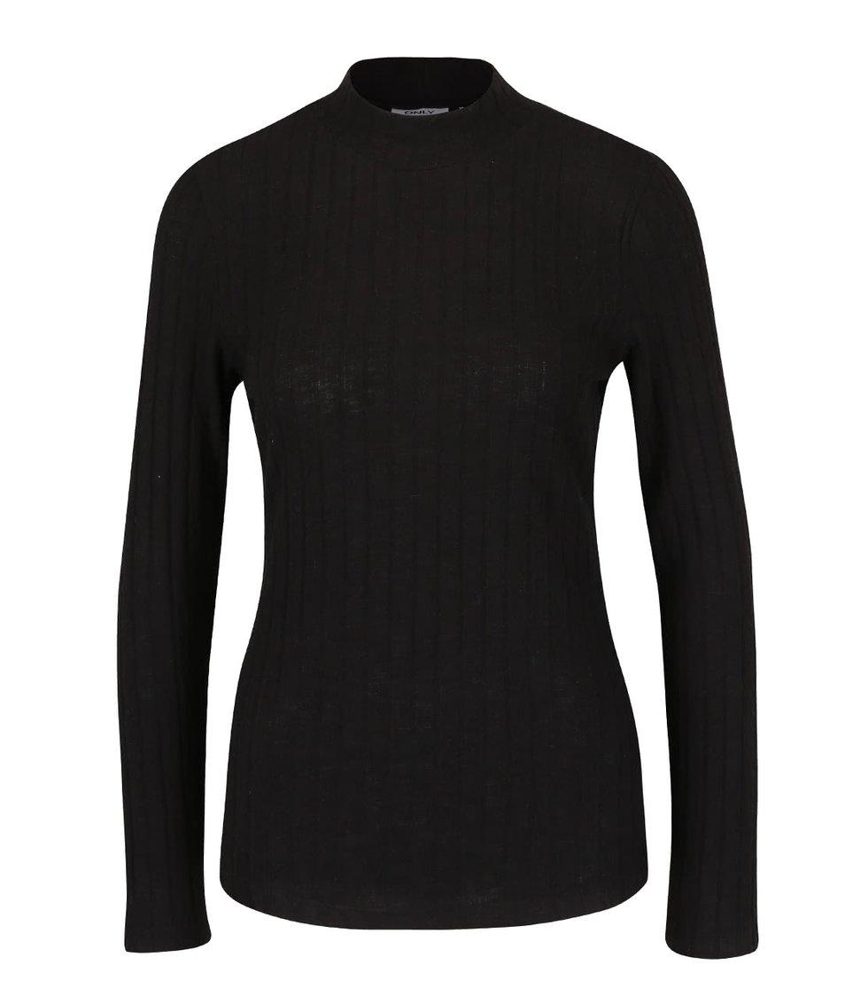 Černé tričko s rolákem ONLY Great Ripena