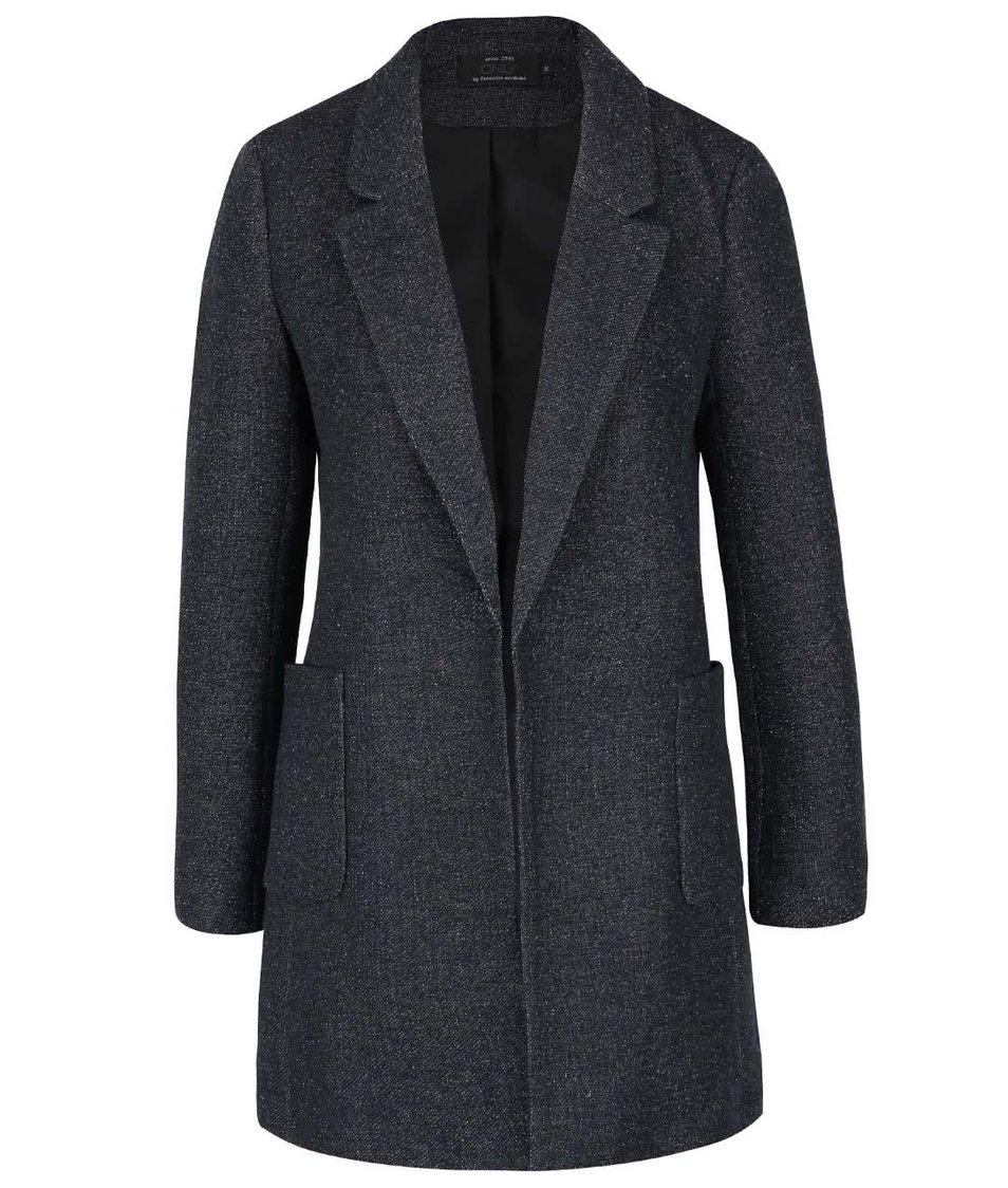 Tmavě modrý žíhaný lehký kabát ONLY Bager