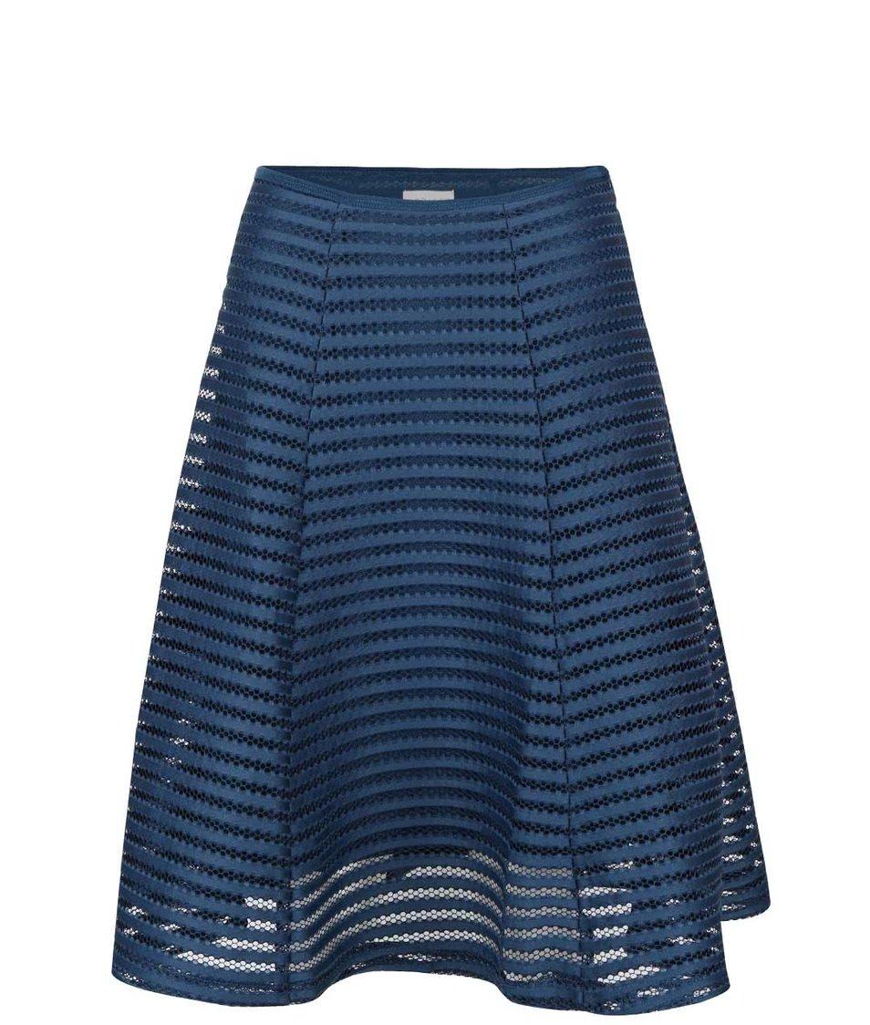 Petrolejová sukně ze síťované krajky Apricot