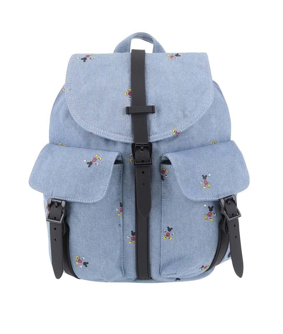 Modrý dámský batoh s potiskem Mickey Mouse Herschel Dawson