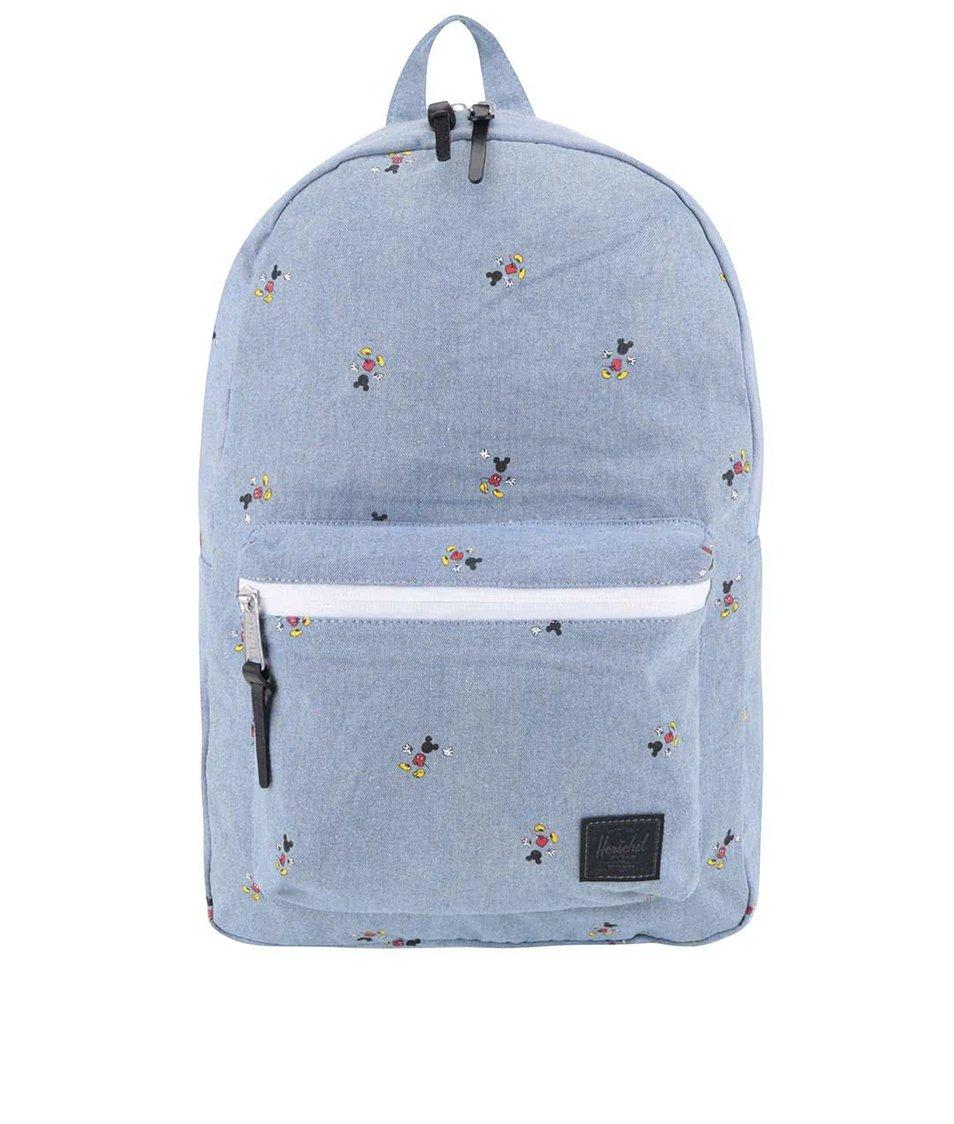 Modrý dámský batoh s potiskem Mickey Mouse Herschel Settlement