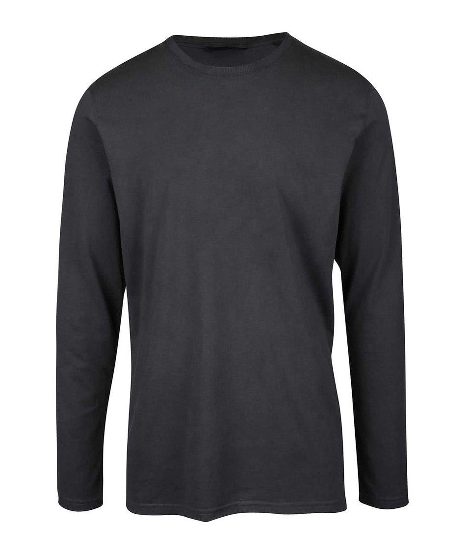 Tmavě šedé triko s dlouhým rukávem ONLY & SONS Kenny