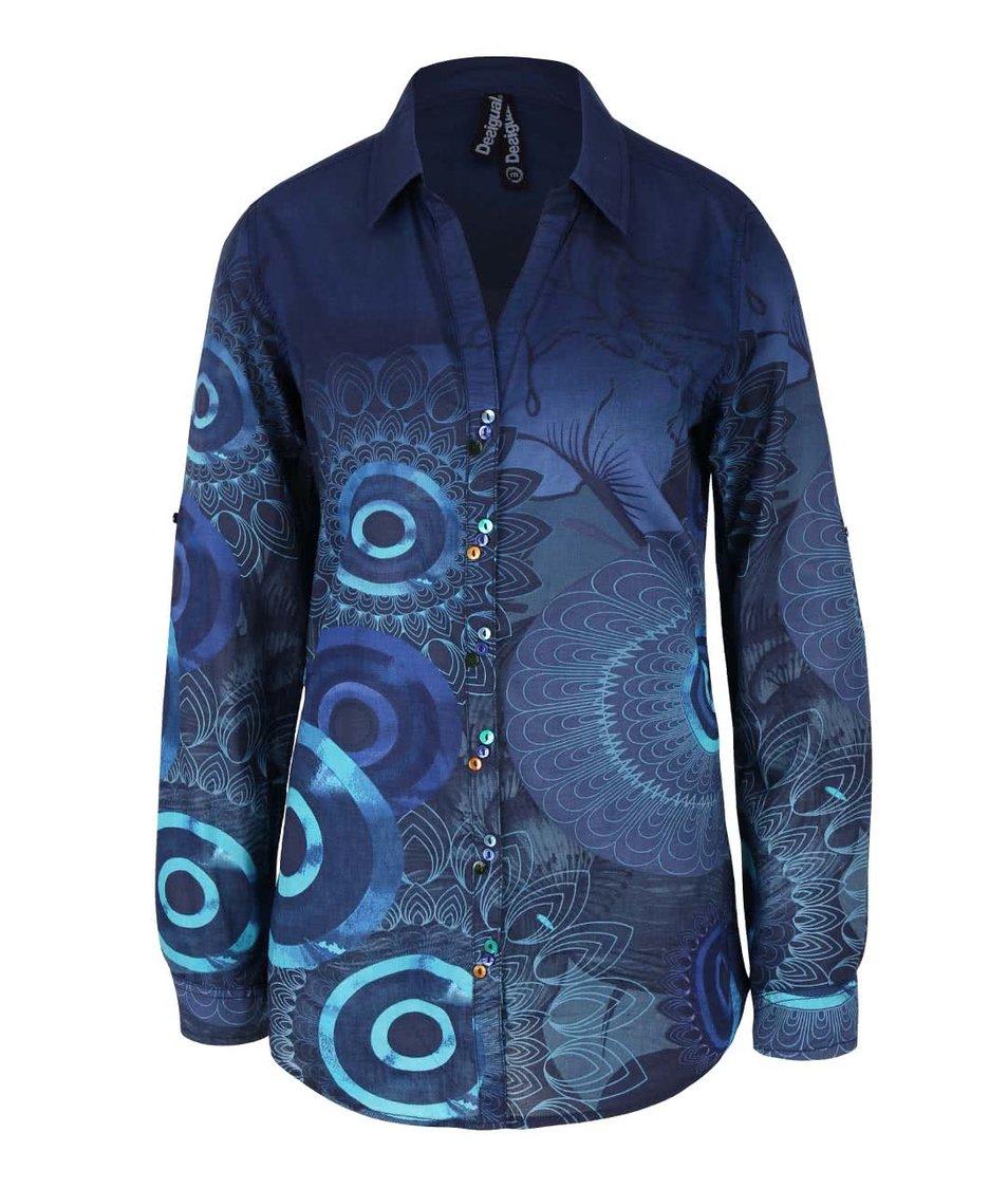 Tmavě modrá košile Desigual Elko