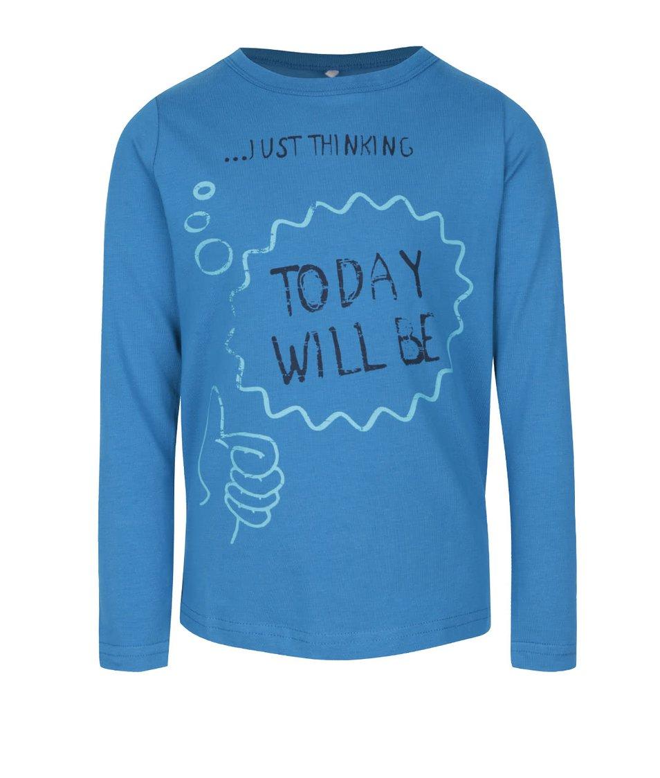 Modré klučičí triko s dlouhým rukávem name it Vix