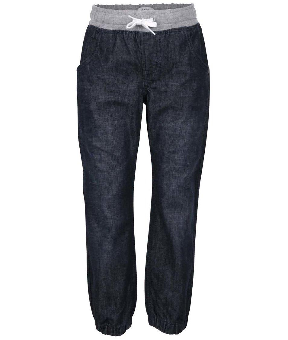 Modré klučičí džíny se stažením v pase name it Dark