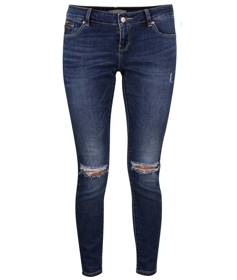 Tmavě modré džíny s dírami na kolenou Vero Moda Five