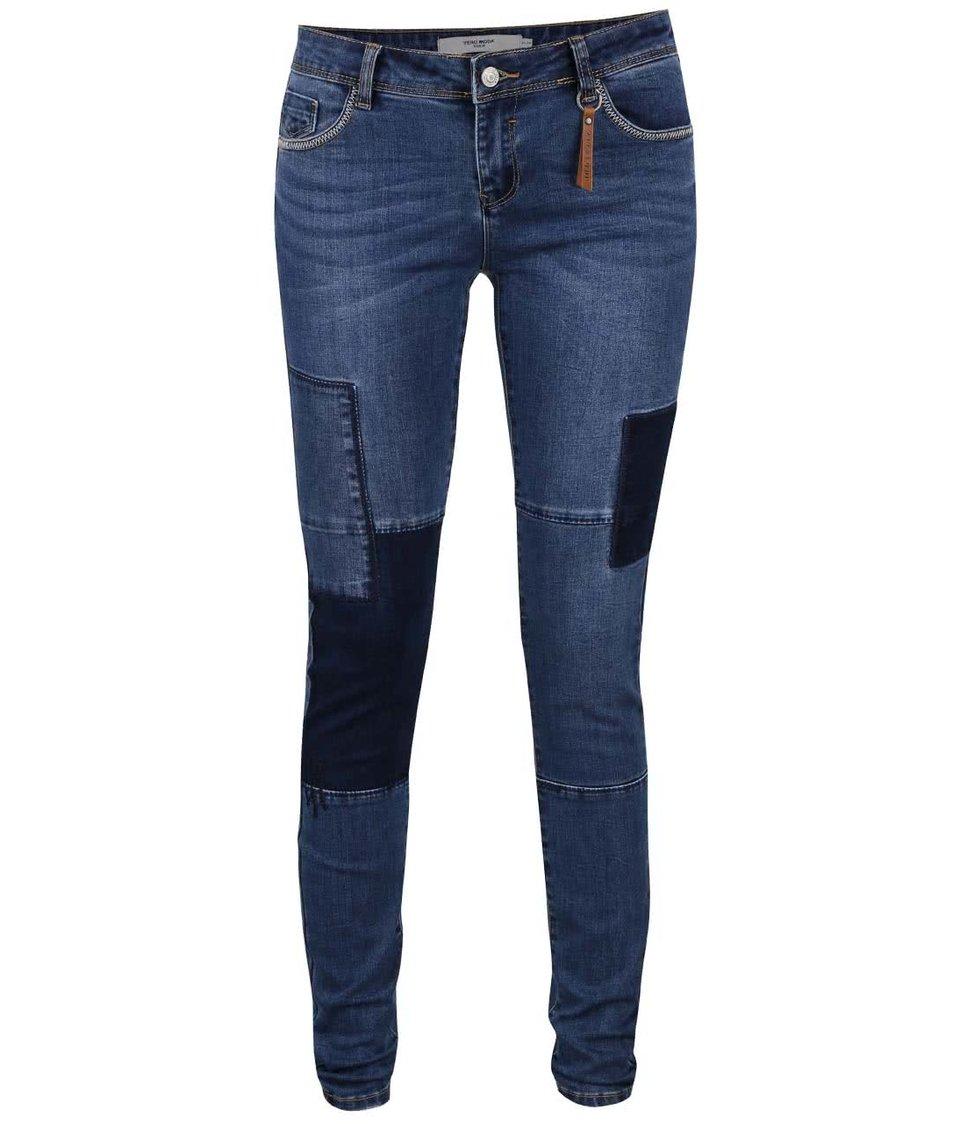 Modré džíny se záplatami Vero Moda Five
