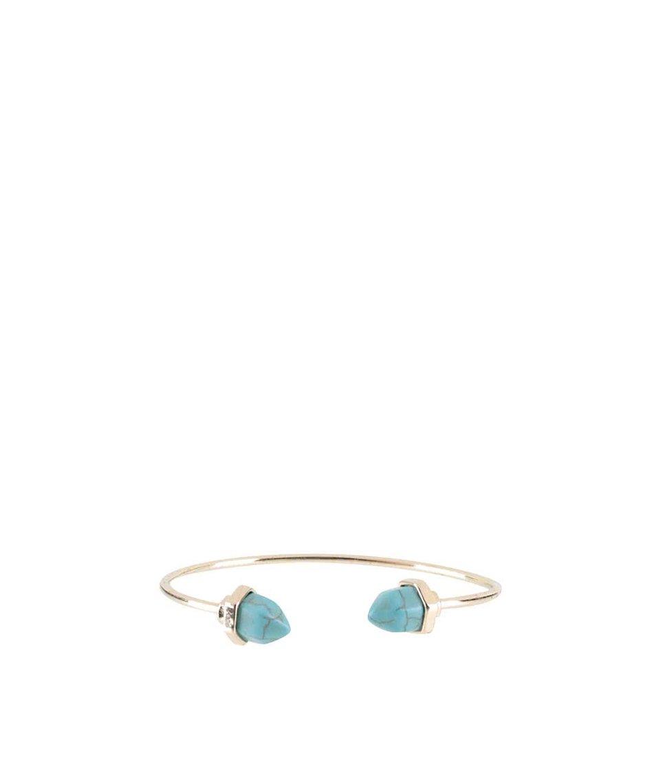 Náramek ve zlaté barvě s modrým detailem Haily´s