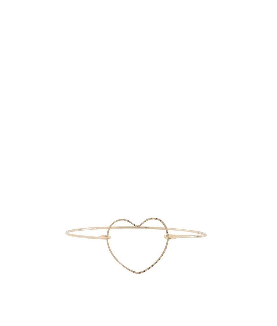 Náramek ve zlaté barvě se srdcem Haily´s