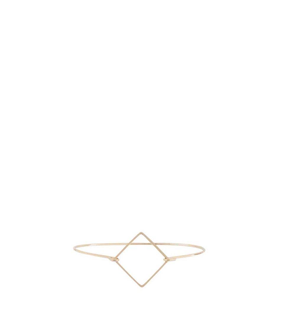 Náramek ve zlaté barvě s geometrickým útvarem Haily´s