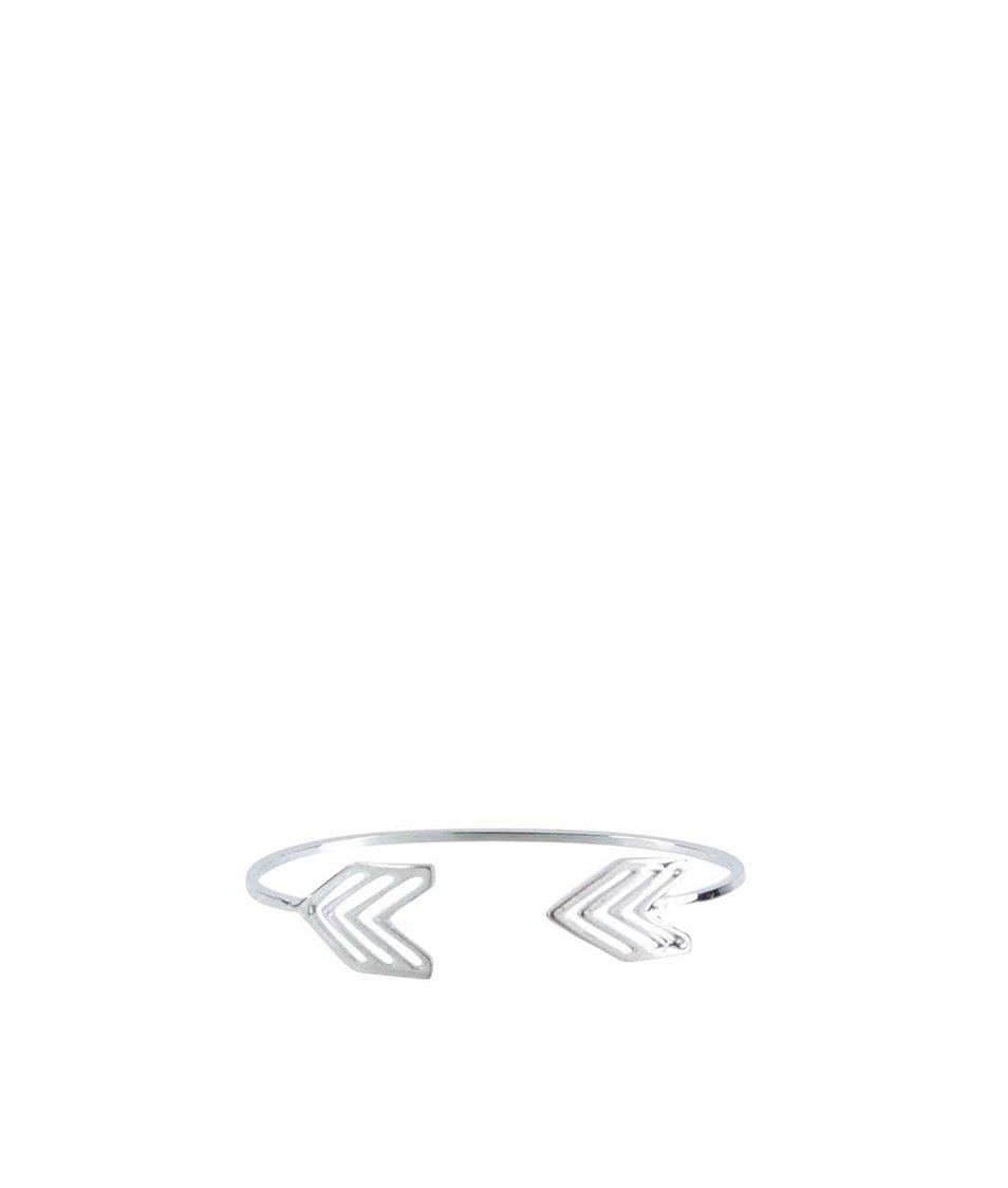 Náramek ve stříbrné barvě ve tvaru šípů Haily´s