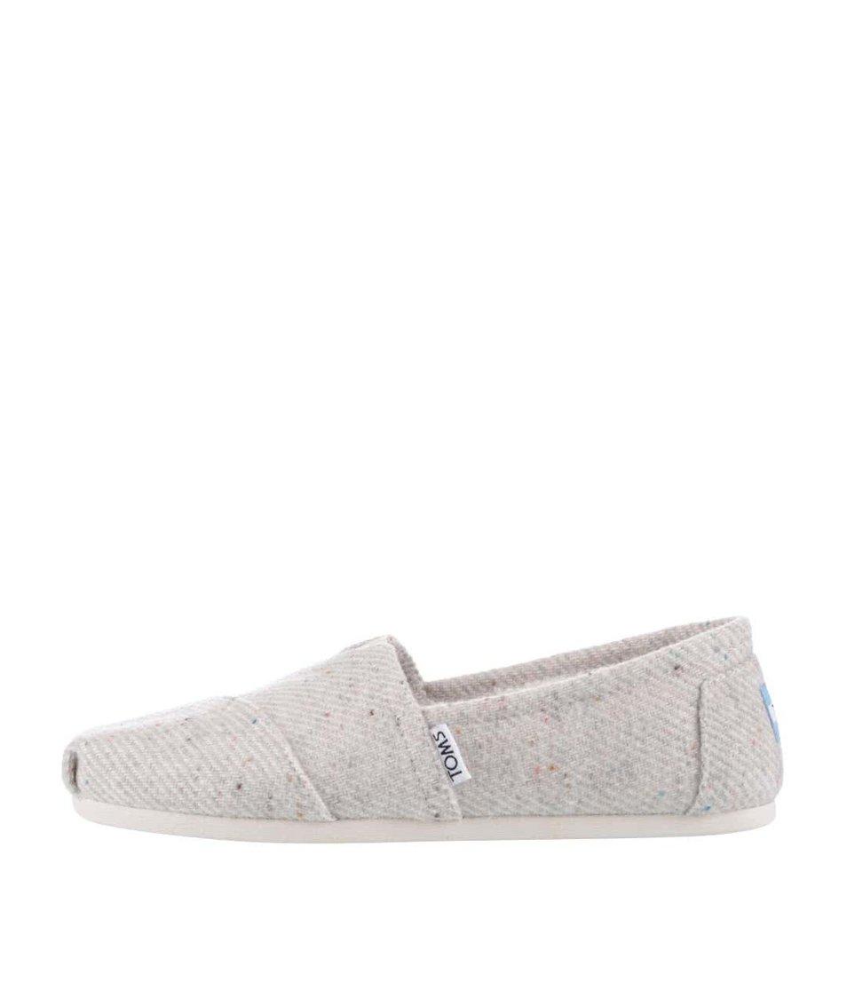 Krémové dámské loafers s kožíškem TOMS
