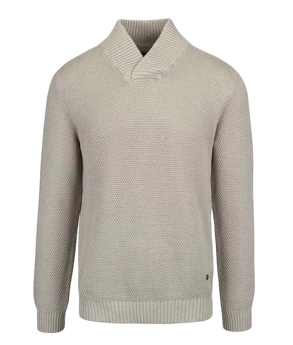 Béžový svetr s límcem Jack & Jones Tobias