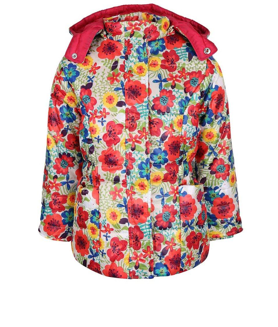 Krémová holčičí bunda s kapucí Bóboli