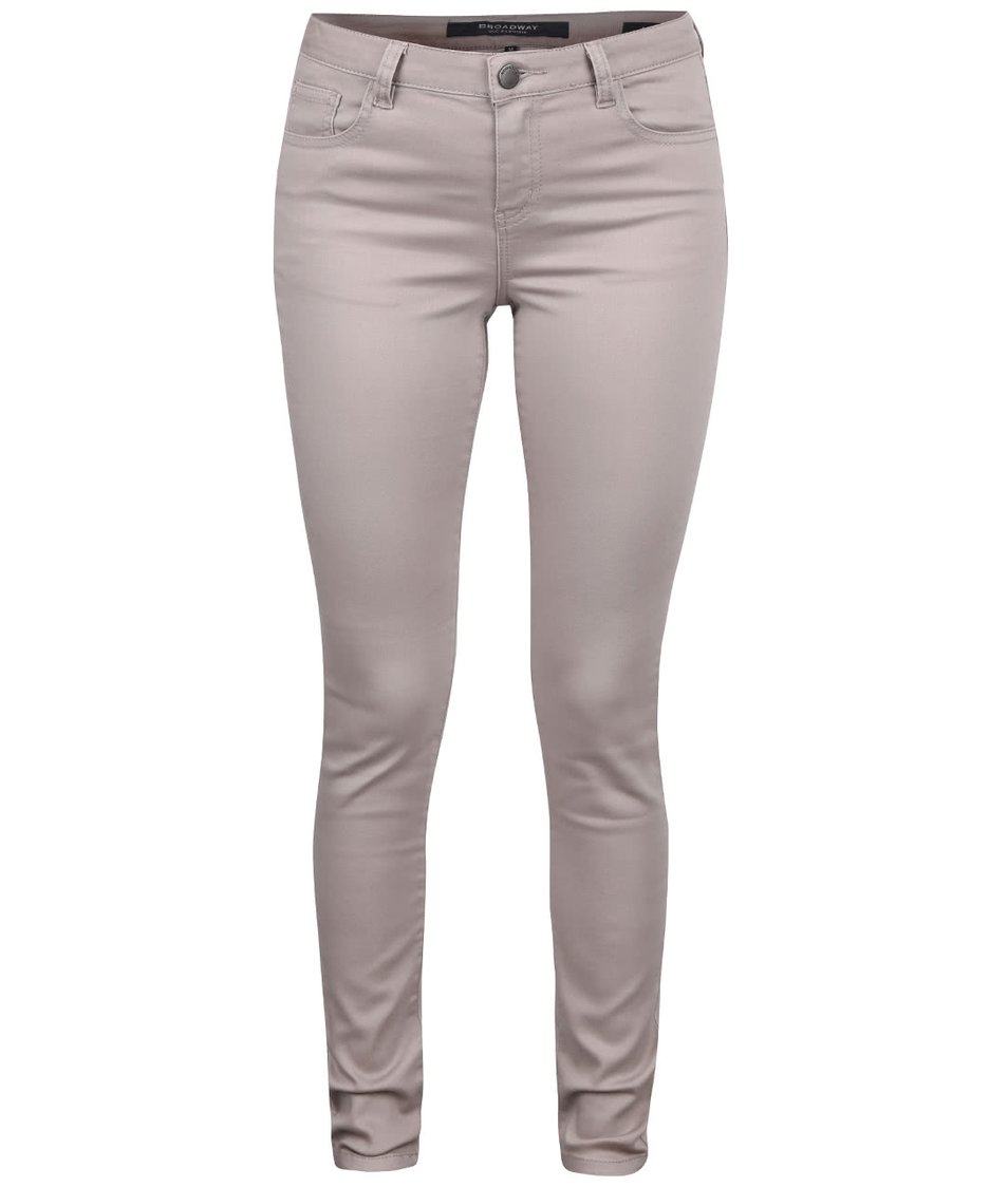 Hnědošedé dámské skinny kalhoty Broadway Jane