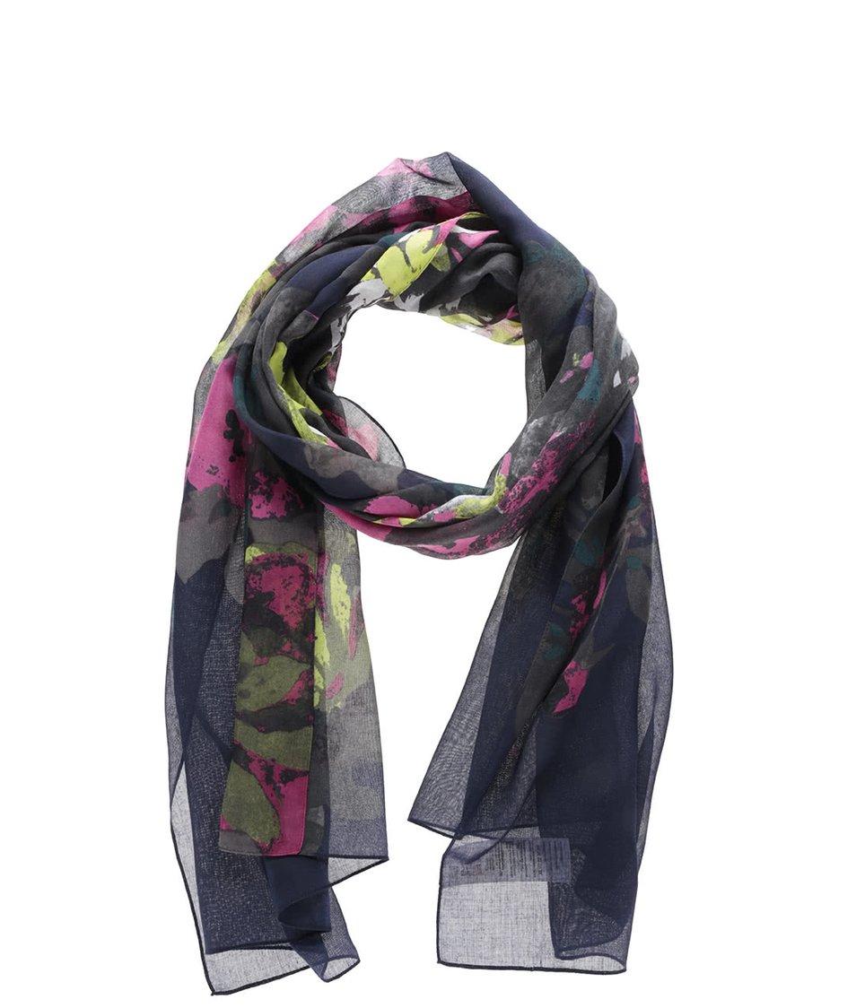 Tmavě modrý šátek s květovaným vzorem Tom Joule Wensley