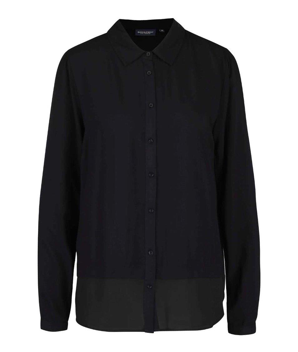 Černá košile s dlouhým rukávem Broadway Necla