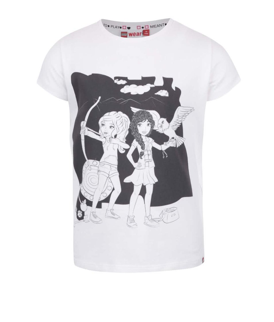 Krémové holčičí tričko s potiskem LEGO Wear Tamara
