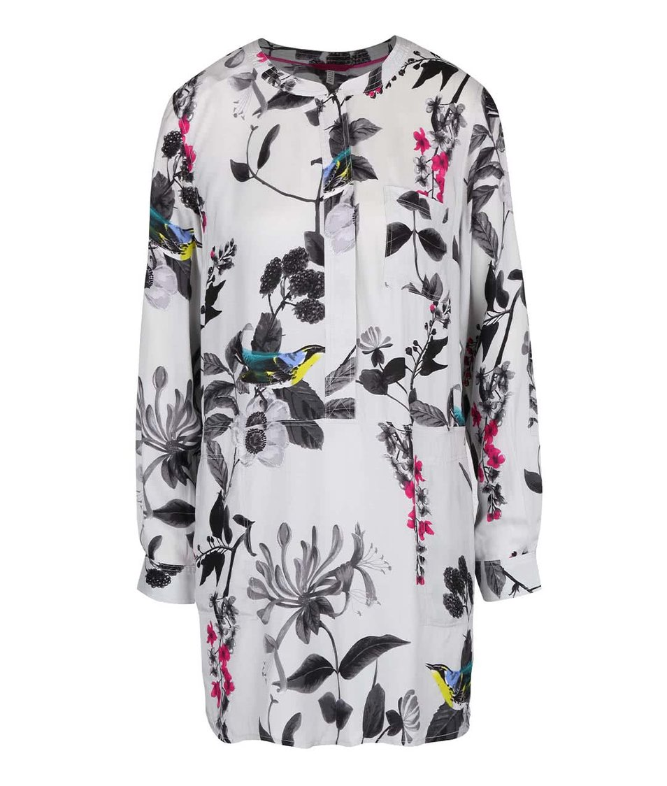 Světle šedá dámská květovaná tunika Tom Joule Eden