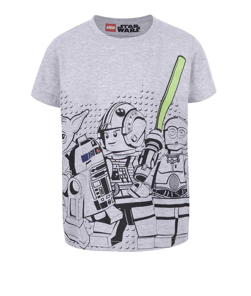 Šedé klučičí triko s potiskem LEGO Wear M-Line