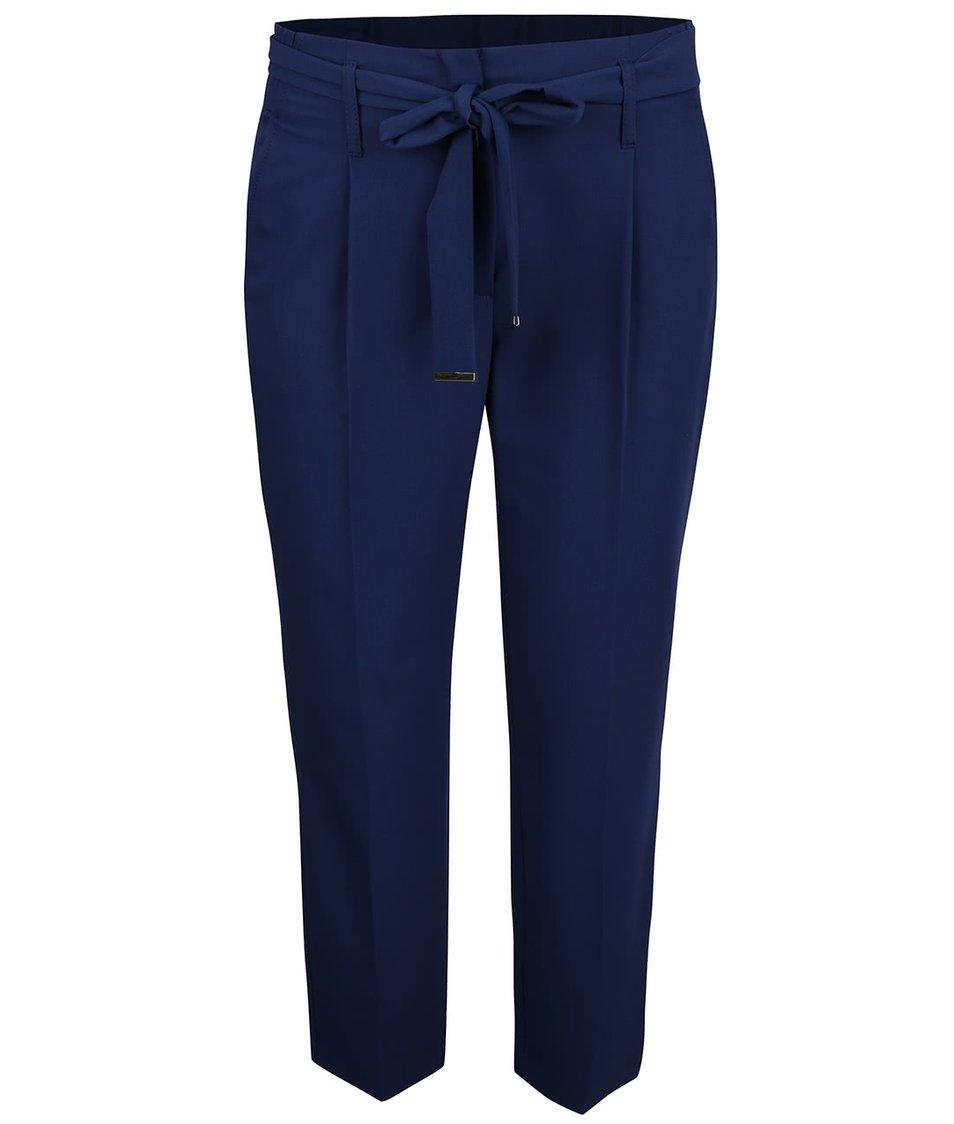 Tmavě modré osminkové kalhoty s páskem Dorothy Perkins