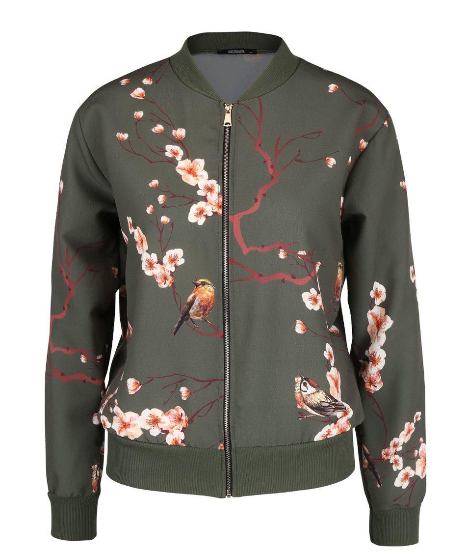 Khaki lehký bomber se vzorem květin Haily´s Cheryl