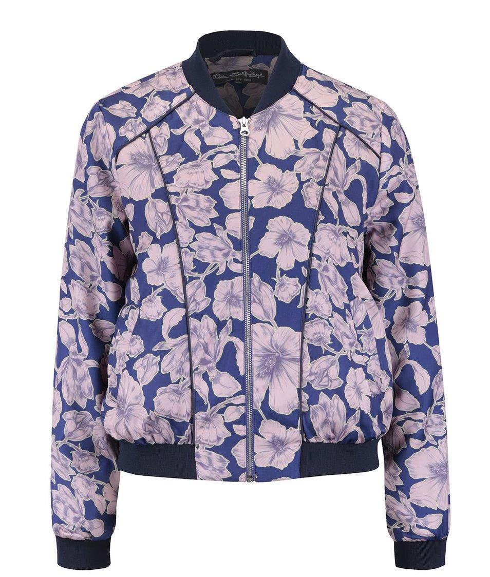 Modrý květovaný bomber Miss Selfridge
