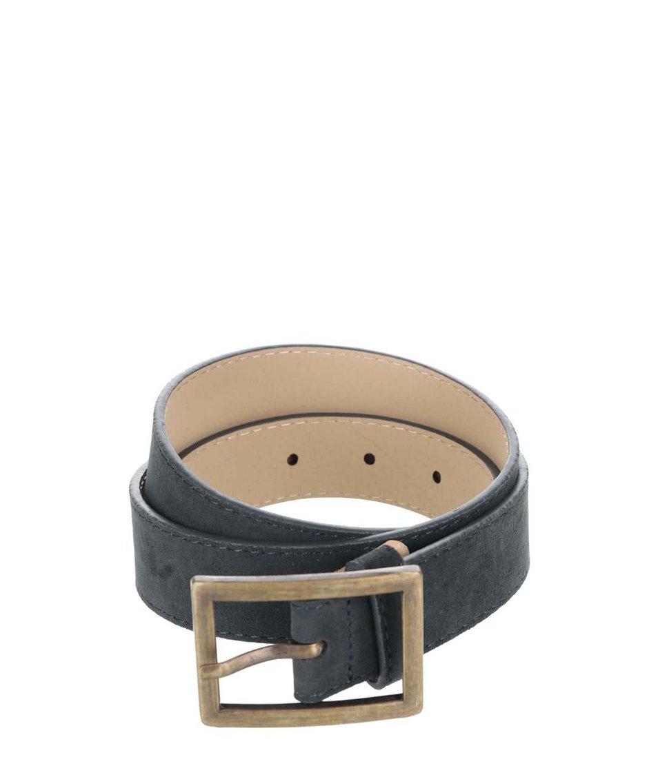 Šedo-zelený pásek s obdélníkovou sponou Pieces Pigala