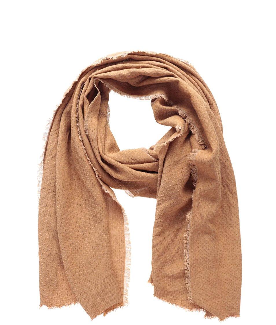 Světle hnědý dlouhý šátek Vero Moda Milla