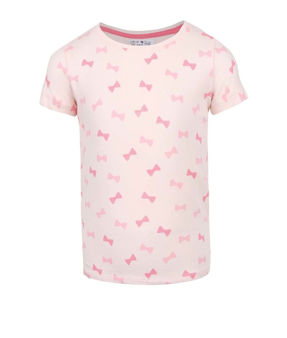 Světle růžové holčičí vzorované tričko 5.10.15.