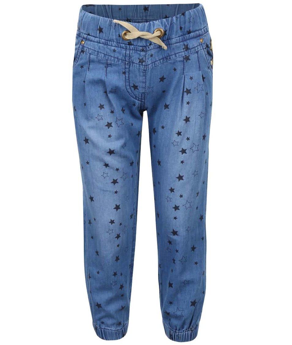 Modré holčičí denimové kalhoty s hvězdičkami 5.10.15.