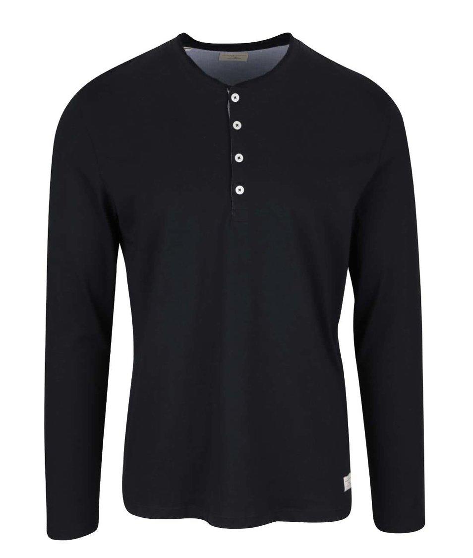 Černé triko s dlouhým rukávem Selected Homme Niklas