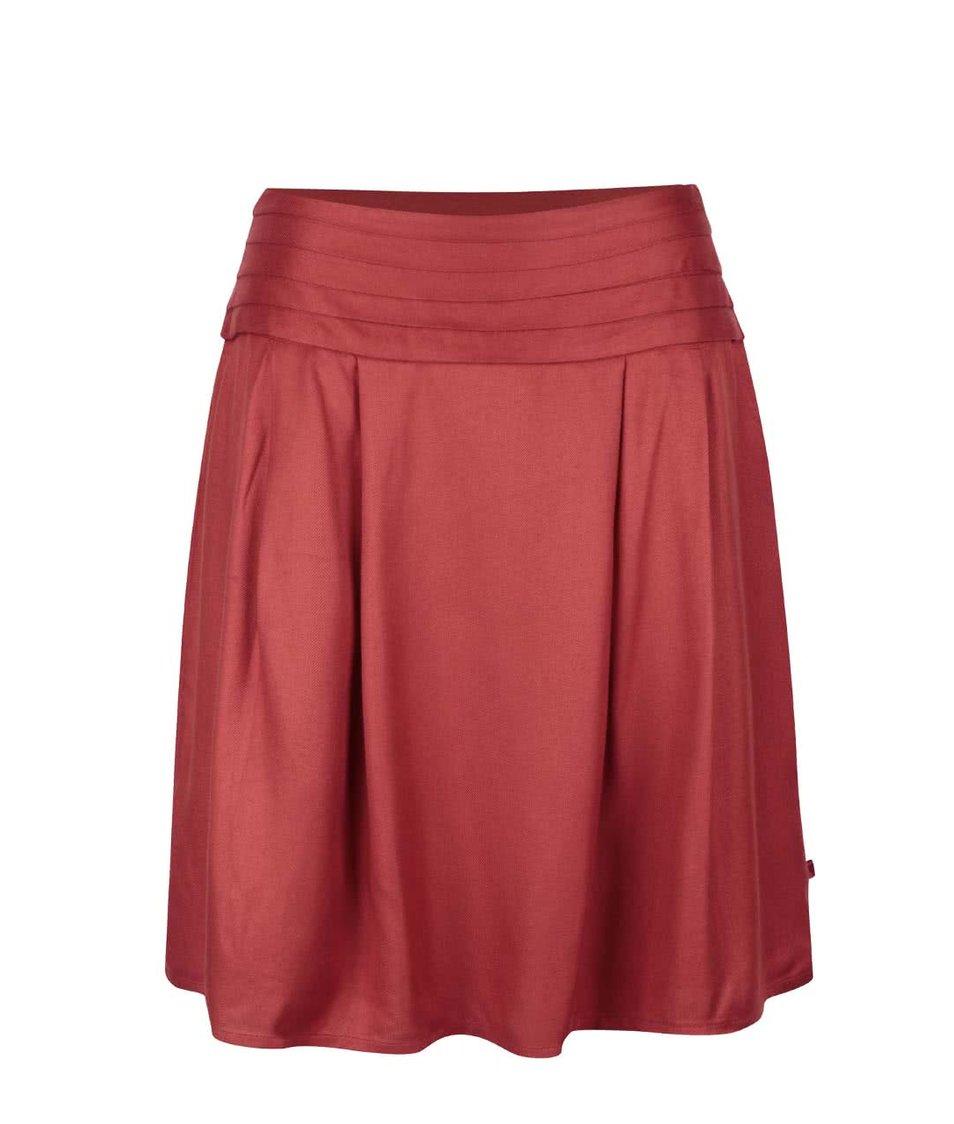 Cihlová překládaná sukně Tranquillo Lucia