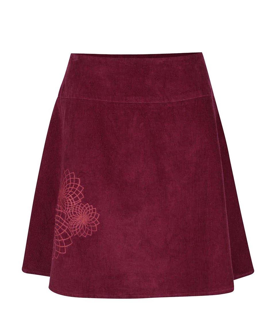 Fuchsiová manšestrová sukně s výšivkami Tranquillo Tito