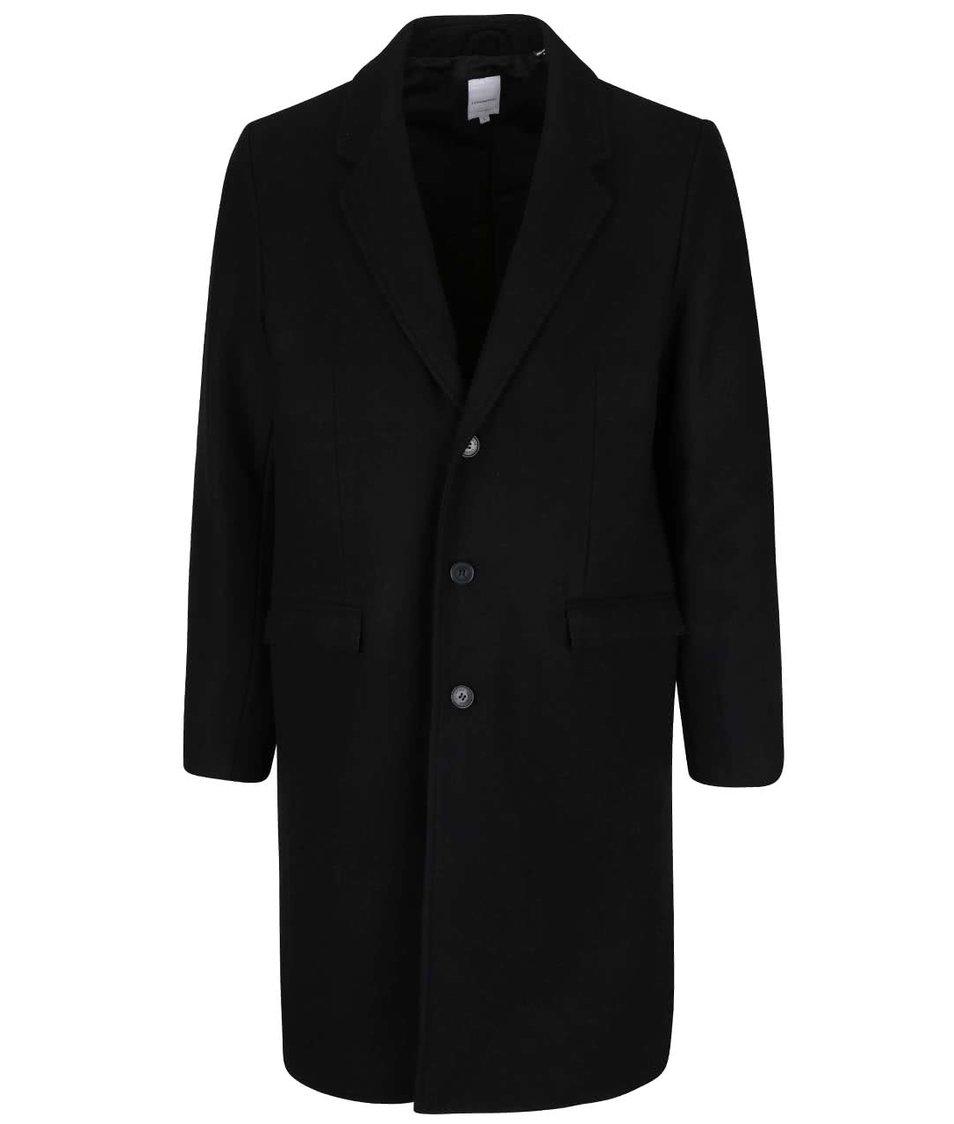 Černý dlouhý kabát Lindbergh
