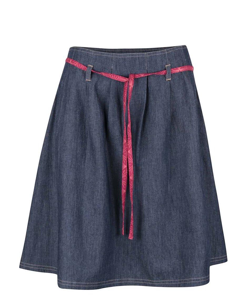 Modrá denimová sukně s fuchsiovou mašlí Tranquillo Malmö