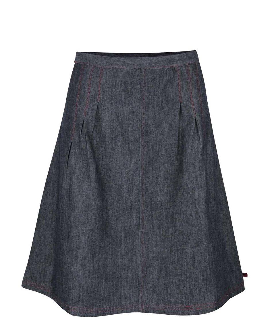 Šedomodrá denimová áčková sukně s kapsami Tranquillo Taby
