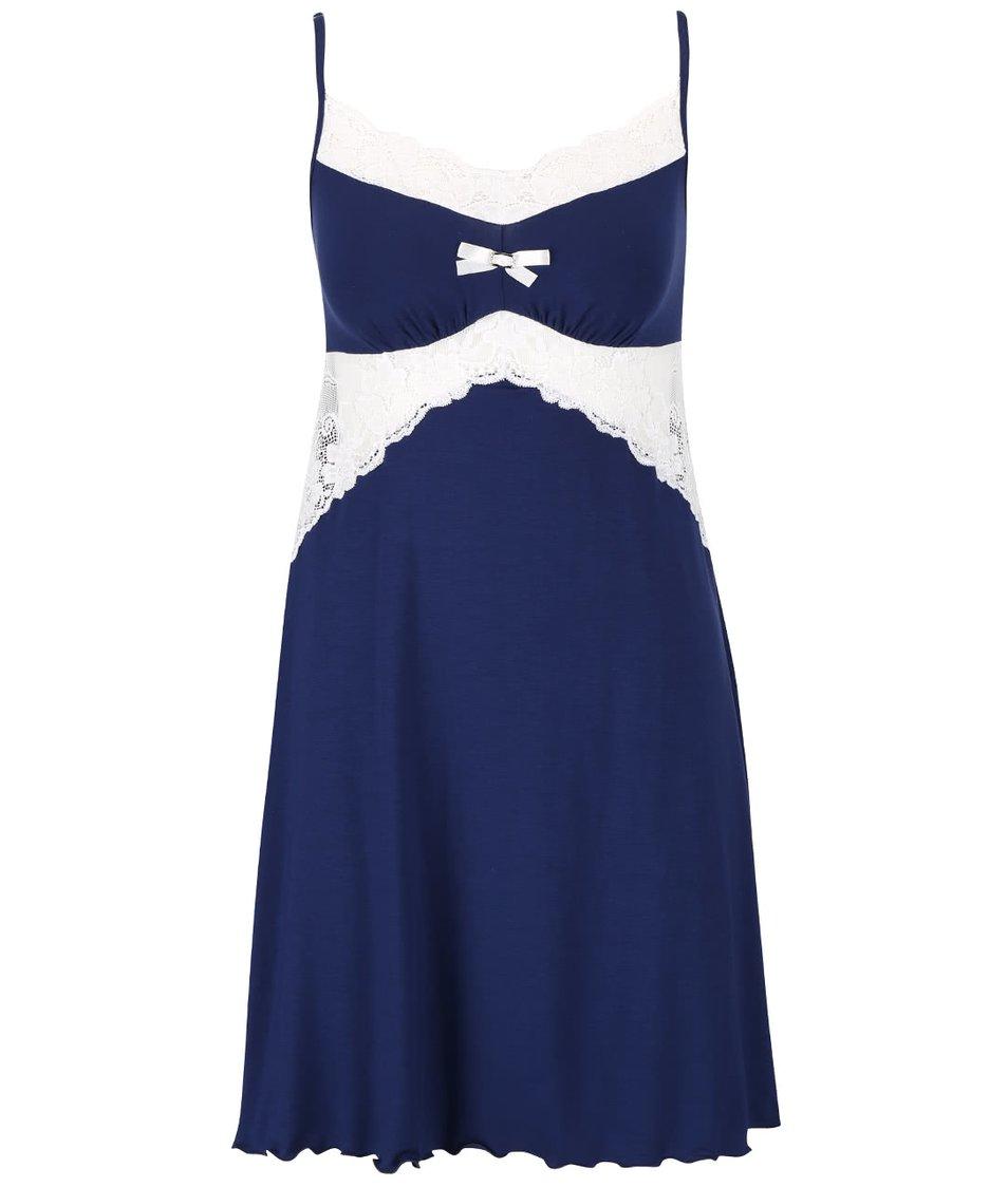 Modrá noční košilka s krajkou Eldar Bona