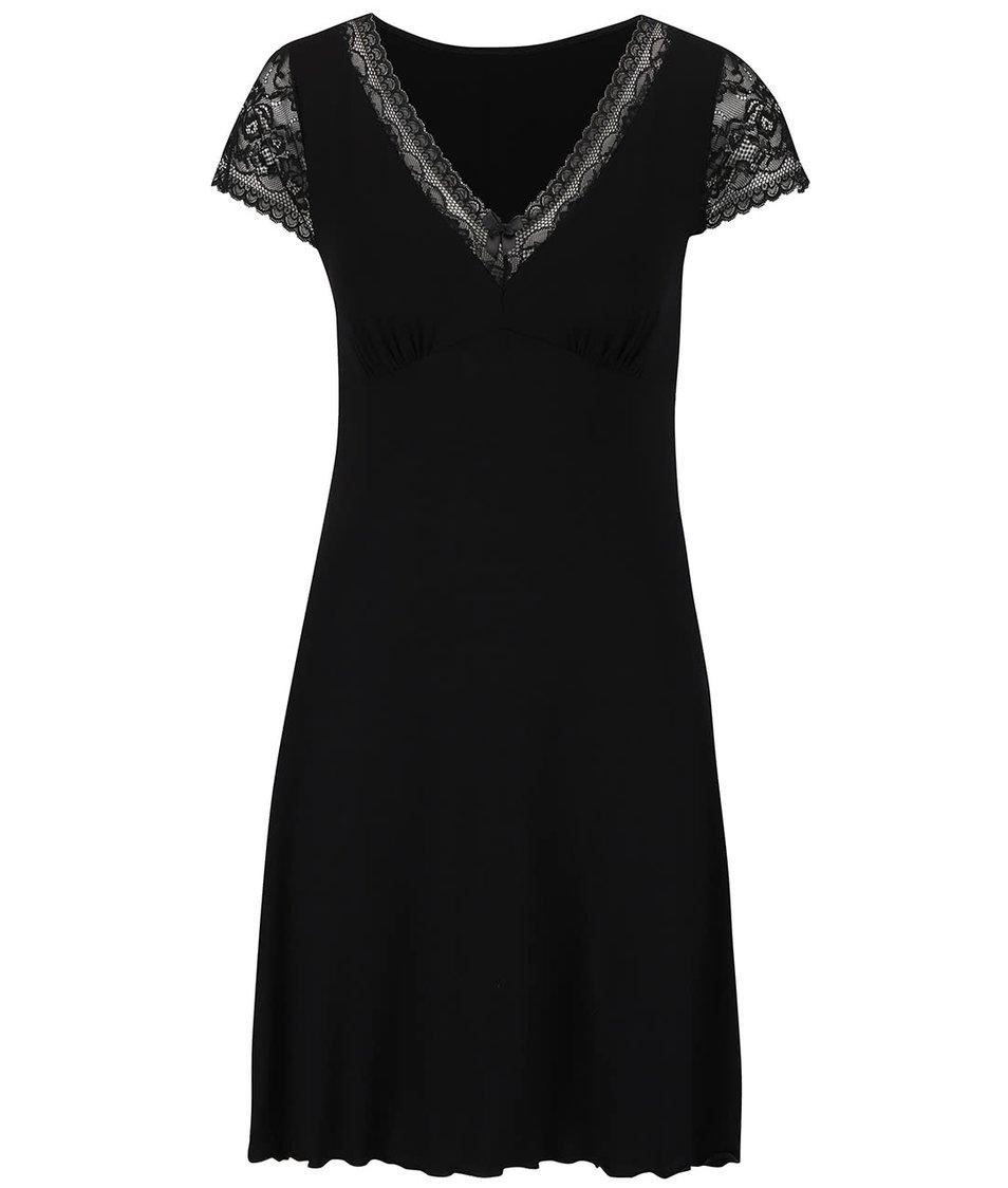 Černá noční košilka s krajkou Eldar Leonia