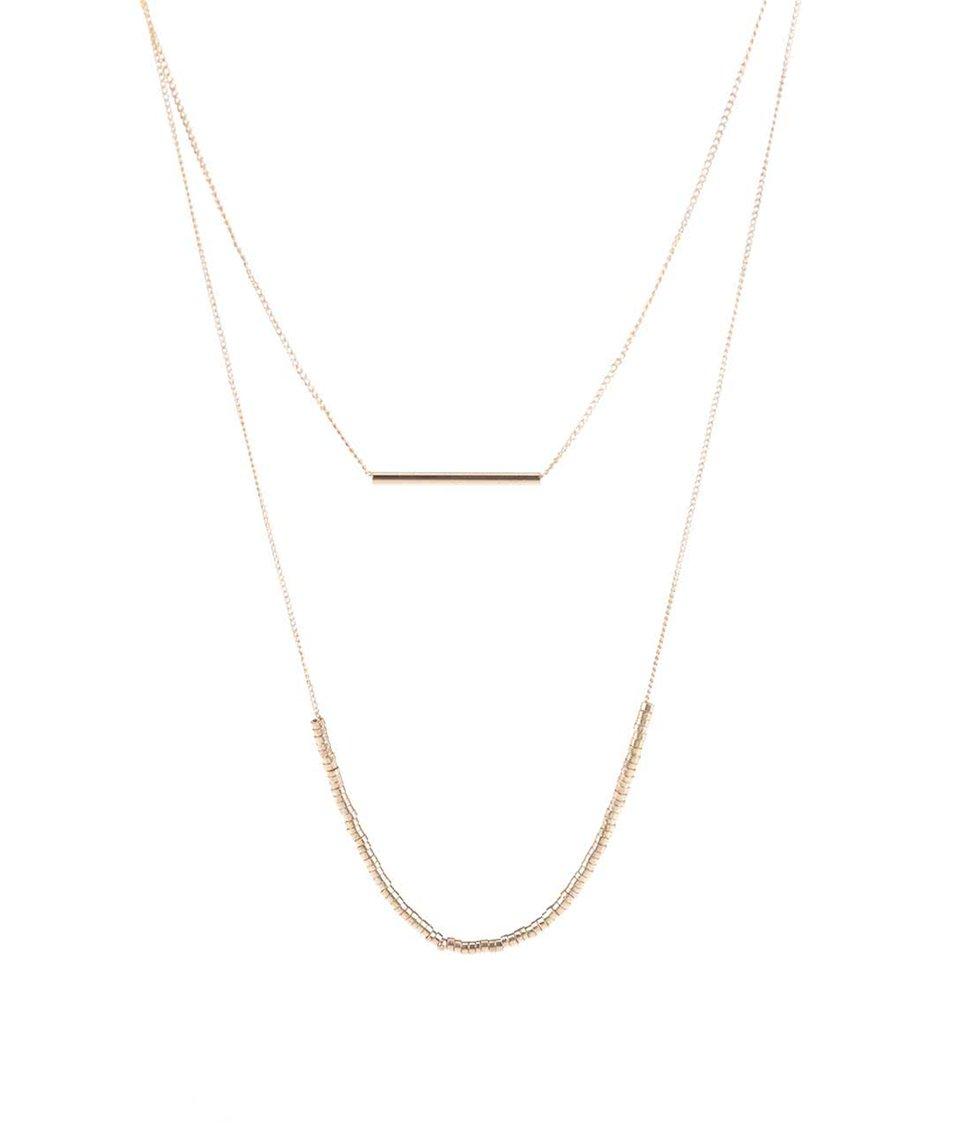 Kaskádovitý náhrdelník ve zlaté barvě Pieces Peru