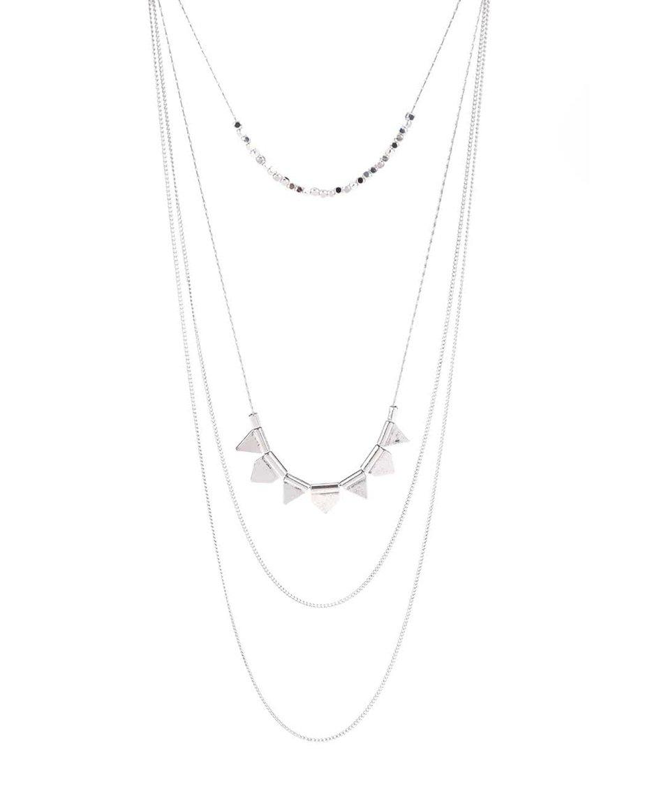 Kaskádovitý náhrdelník ve stříbrné barvě Pieces Palea