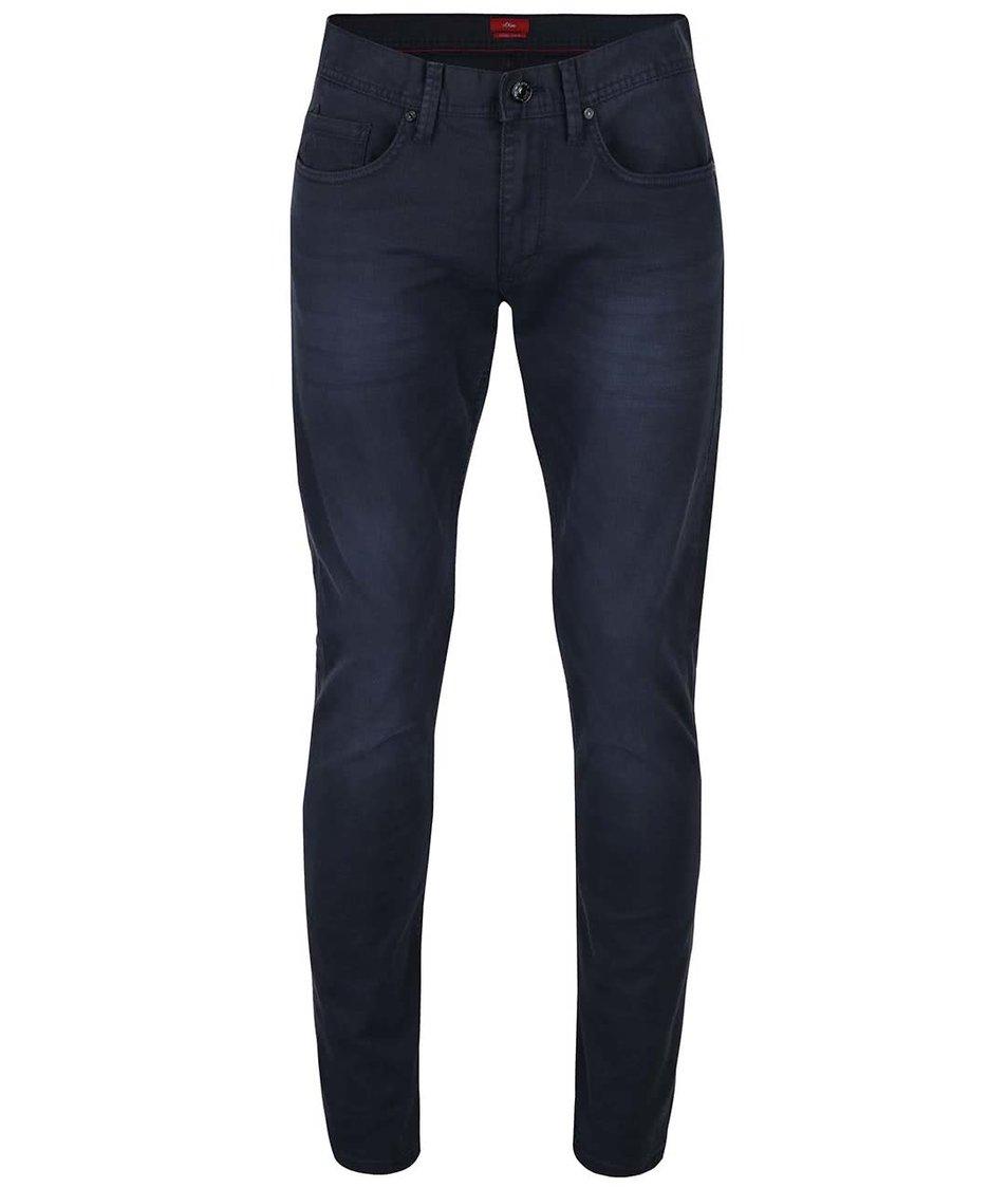Modré pánské džíny s vyšisovaným efektem  s.Oliver Rick