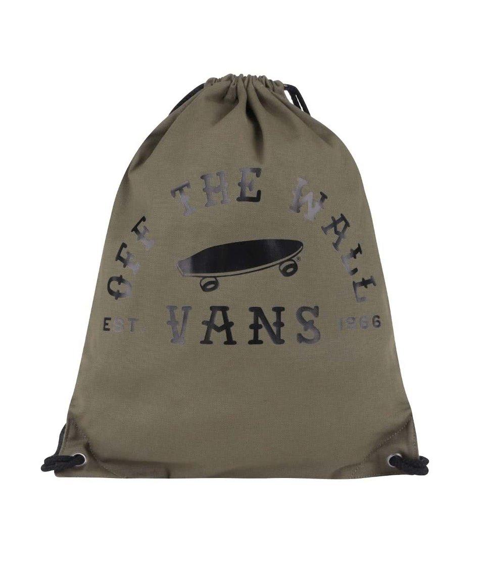 Khaki dámský vak s potiskem Vans Benched Novelty