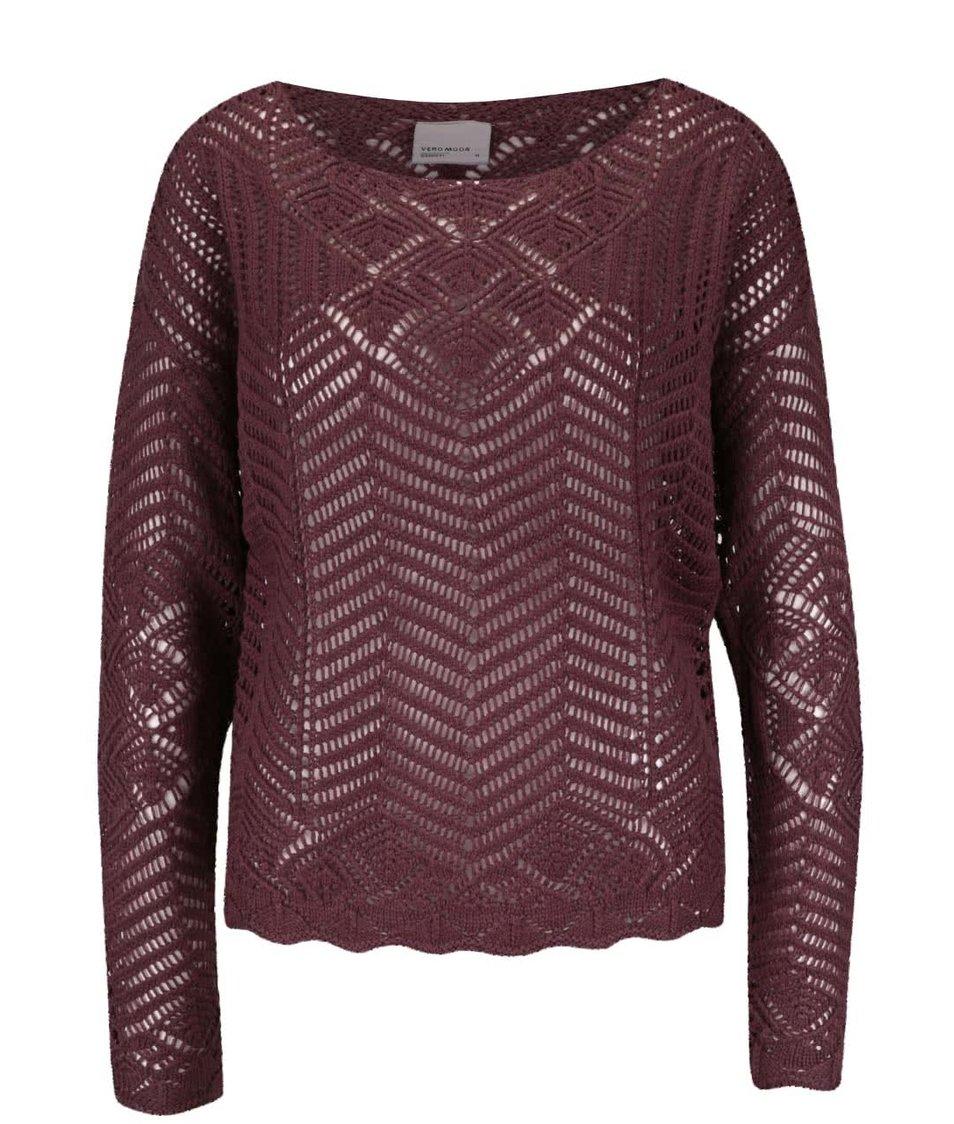 Vínovohnědý svetr Vero Moda Penelope