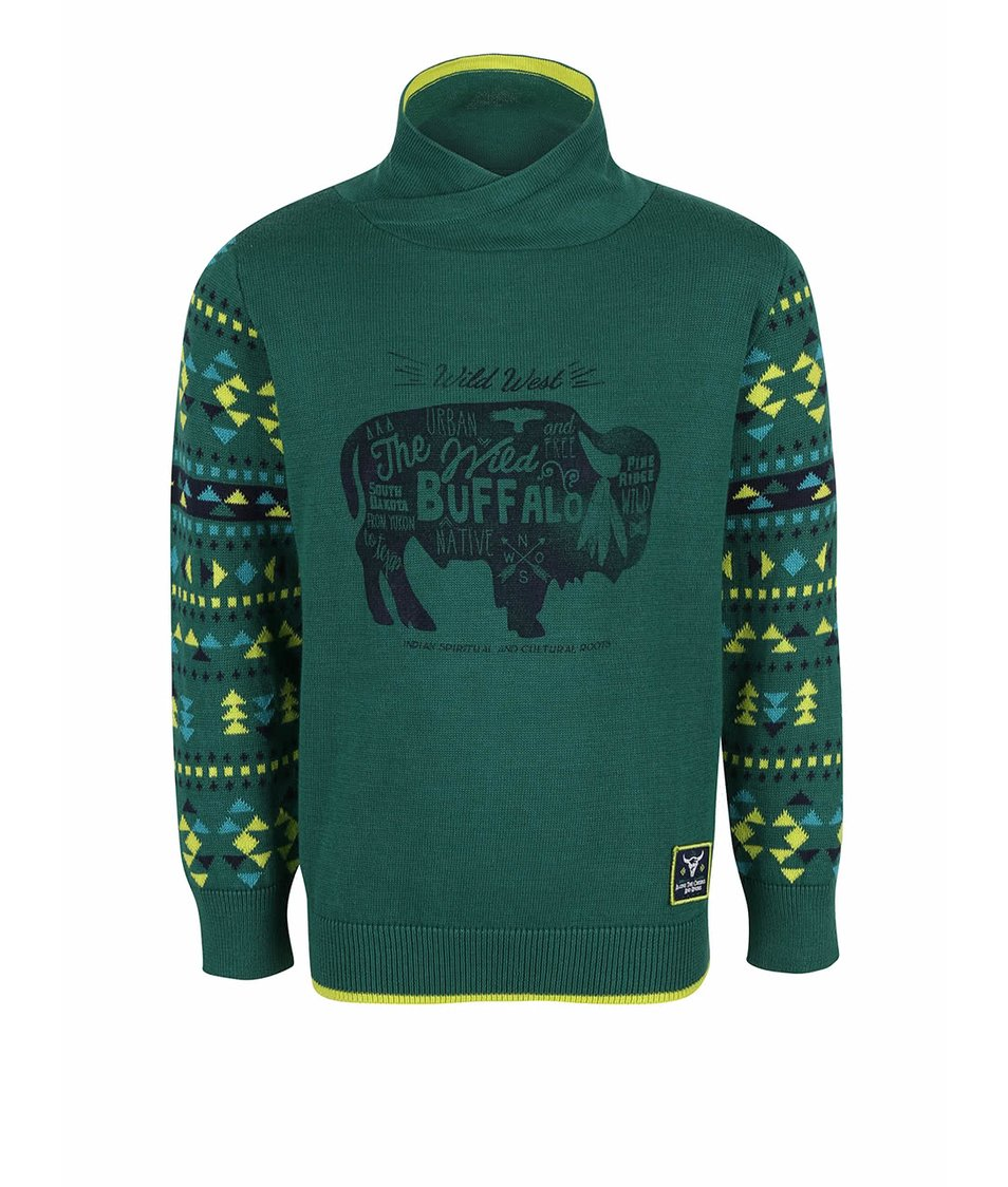 Tmavě zelený klučičí svetr s rolákem Blue Seven