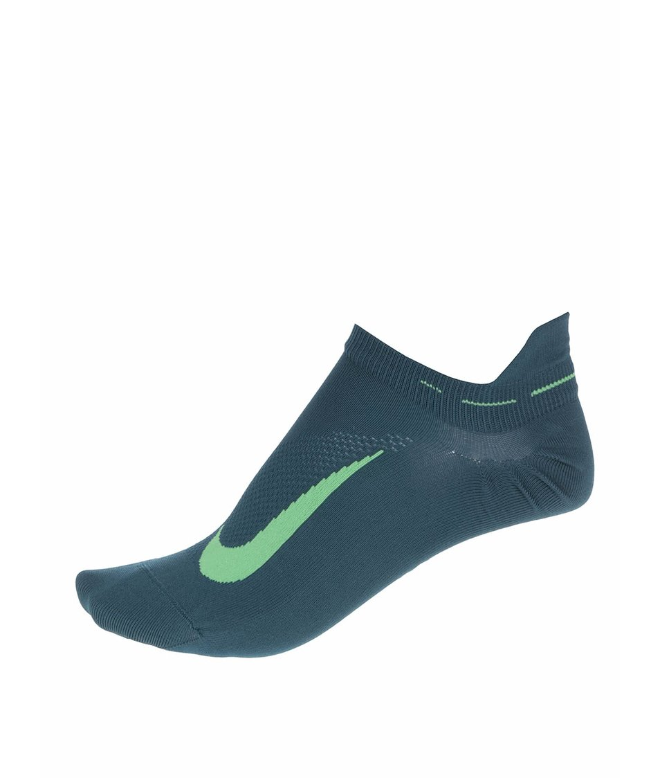 Tmavě zelené unisex kotníkové ponožky Nike Elite Running