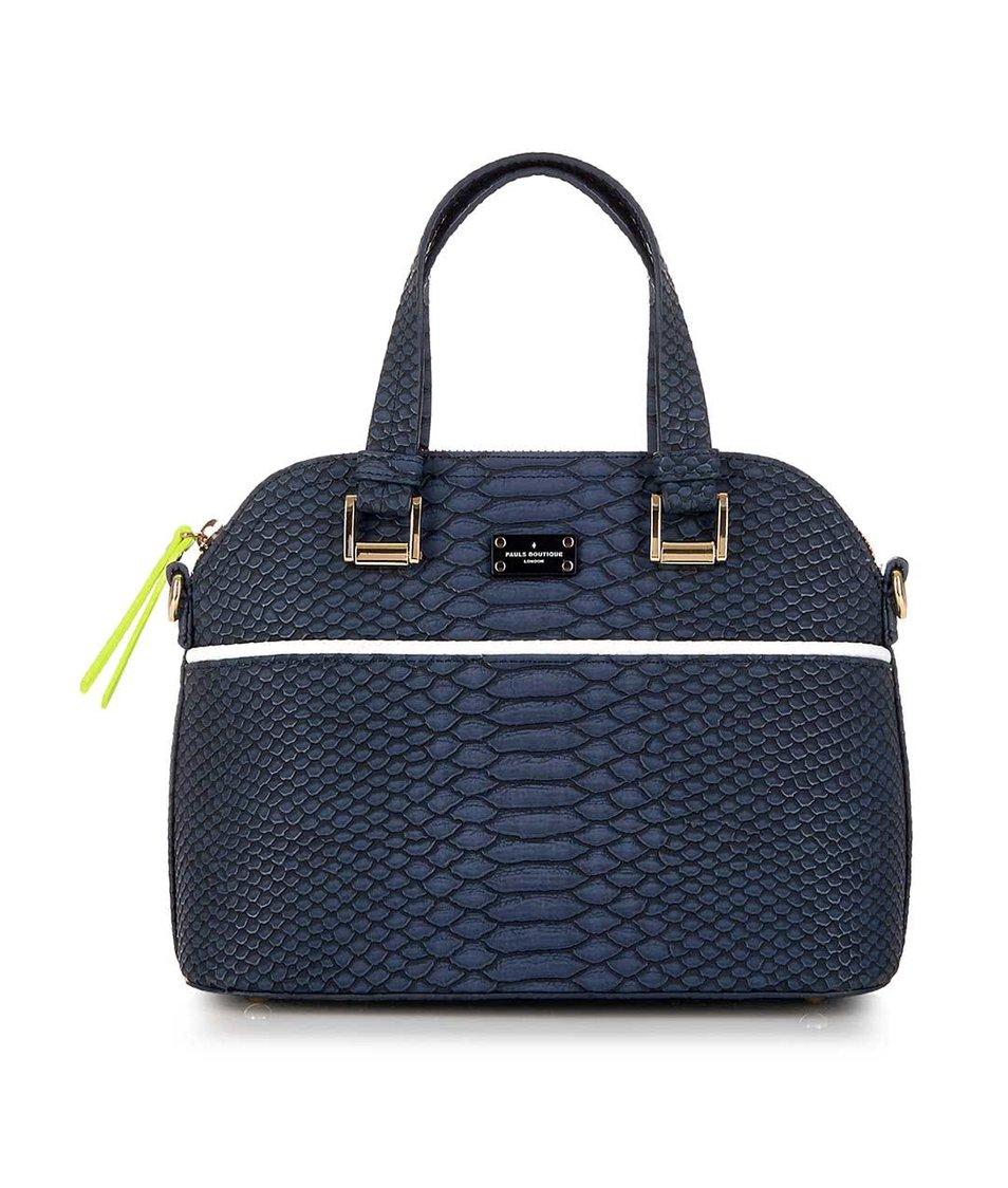 Tmavě modrá menší kabelka s hadím vzorem Paul's Boutique Mini Maisy